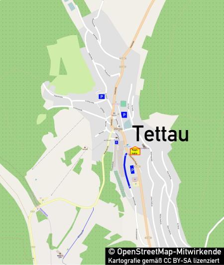 Anfahrtskarte